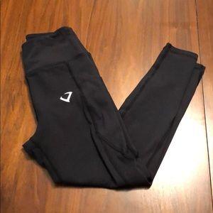 Black calf length leggings